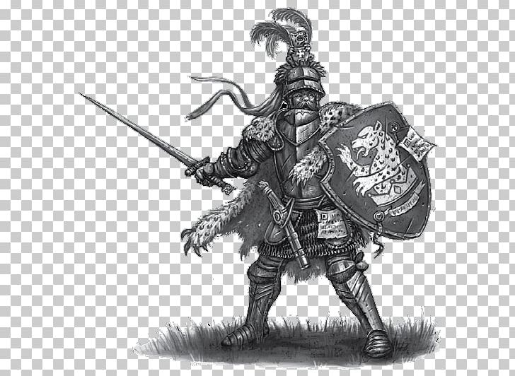 Knight Warhammer Fantasy Battle Art Drawing The Empire Png Clipart Armour Art Black And White Cold