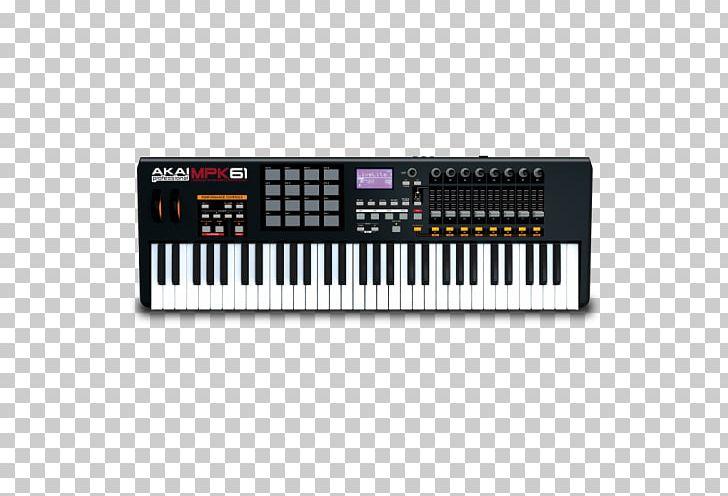 MIDI Keyboard Akai MPK261 Akai MPC MIDI Controllers PNG, Clipart