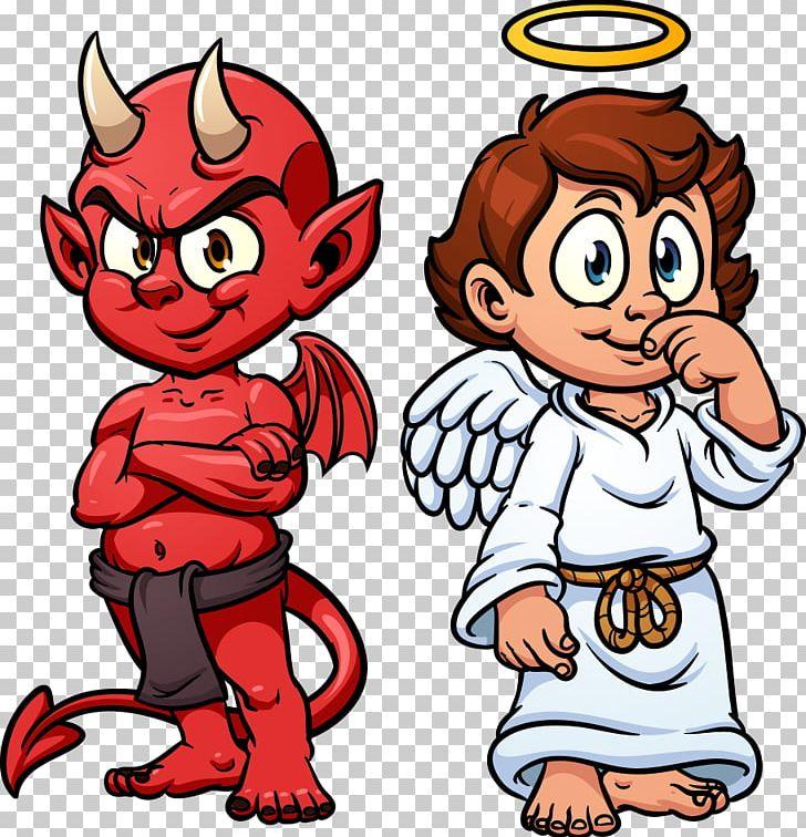 Devil Shoulder Angel Illustration PNG, Clipart, Angel, Angels, Angel Vector, Angel Wing, Boy Free PNG Download