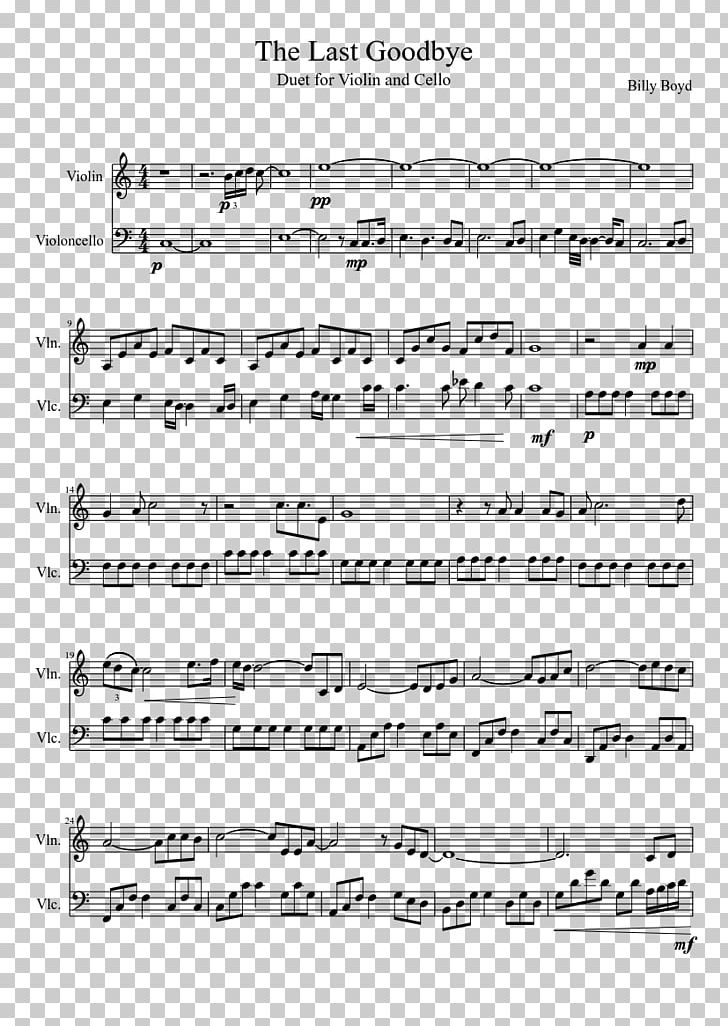 Sheet Music Cello Seven Nation Army Flute PNG, Clipart