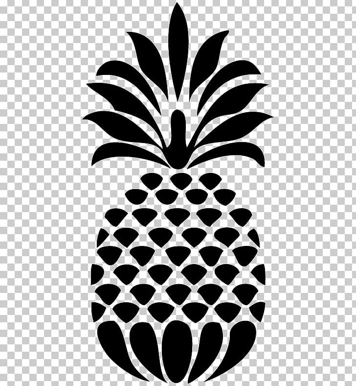 Stencil Pineapple Drawing Food PNG, Clipart, Art, Black And