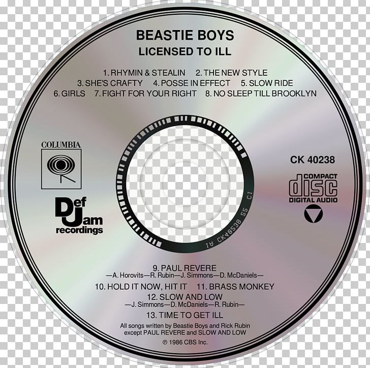 72be80fd Compact Disc Licensed To Ill Beastie Boys Anthology: The Sounds Of Science Paul's  Boutique PNG, Clipart, ...