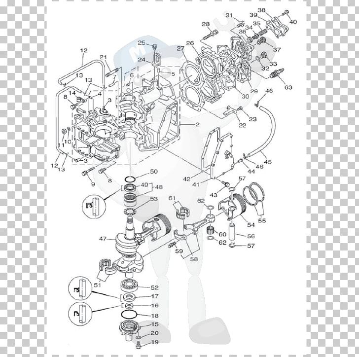 yamaha motor company honda outboard motor suzuki engine png, clipart,  angle, black and white, cars, diagram,