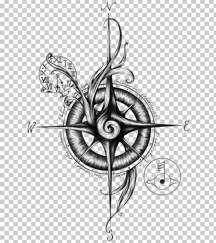 Sailor Tattoos Compass Nautical Star Flash Png Clipart Art Design Drawing Elements Mehndi Free Png Download