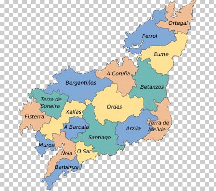Map Of Spain La Coruna.Diputacion Provincial De La Coruna Map Bergantinos O Eume