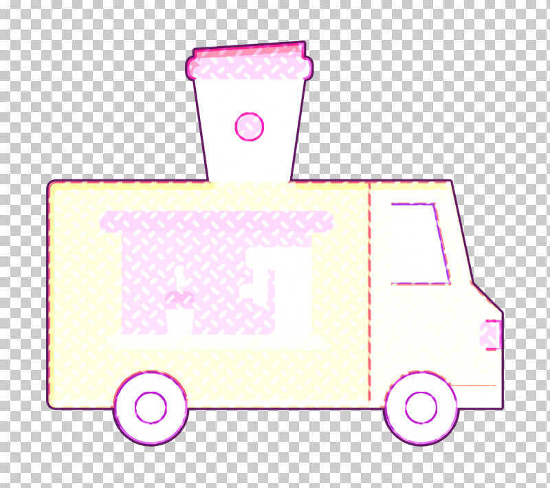 Food Truck Icon Truck Icon Coffee Icon PNG, Clipart, Coffee Icon, Food Truck Icon, Light, Pink, Truck Icon Free PNG Download