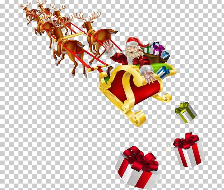 Santa Claus Sled Stock Photography Christmas PNG, Clipart, Cartoon, Cartoon Santa Claus, Christmas Decoration, Christmas Ornament, Fictional Character Free PNG Download