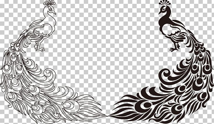 Peafowl Feather Bird Drawing PNG, Clipart, Animals, Art, Asiatic Peafowl, Black And White, Craft Free PNG Download