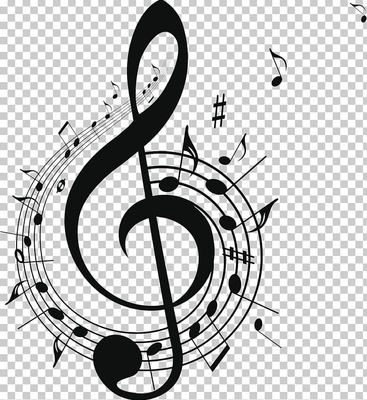 Musical Note Free Music PNG, Clipart, Black And White, Brand, Circle, Clef, Decorative Patterns Free PNG Download