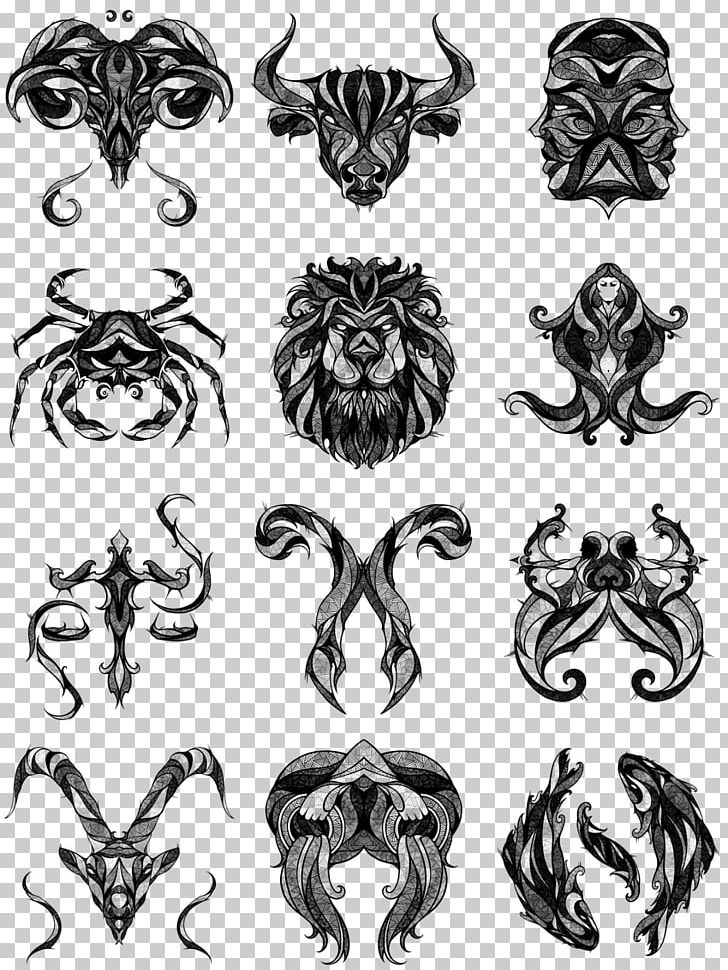 Tattoo Zodiac Cancer Leo Astrological Sign Png Clipart Ambigram Art Black And White Body Art Drawing
