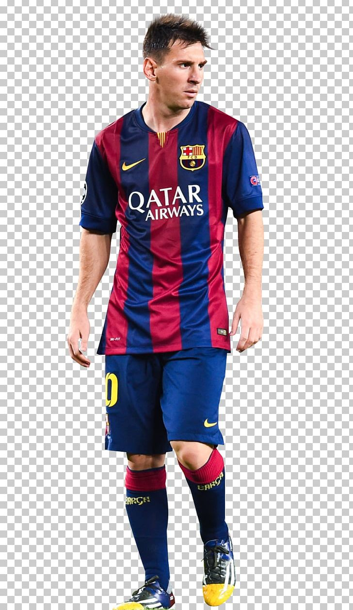 the latest df93e daf6f Lionel Messi FC Barcelona Jersey Sport Football Player PNG ...