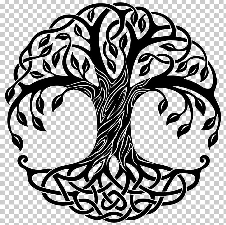 Tree Of Life Drawing Png Clipart Artwork Black And White