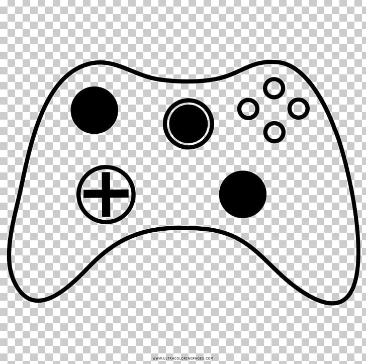 Black White Game Controllers Video Game Coloring Book Drawing Png Clipart Animation Area Black Black