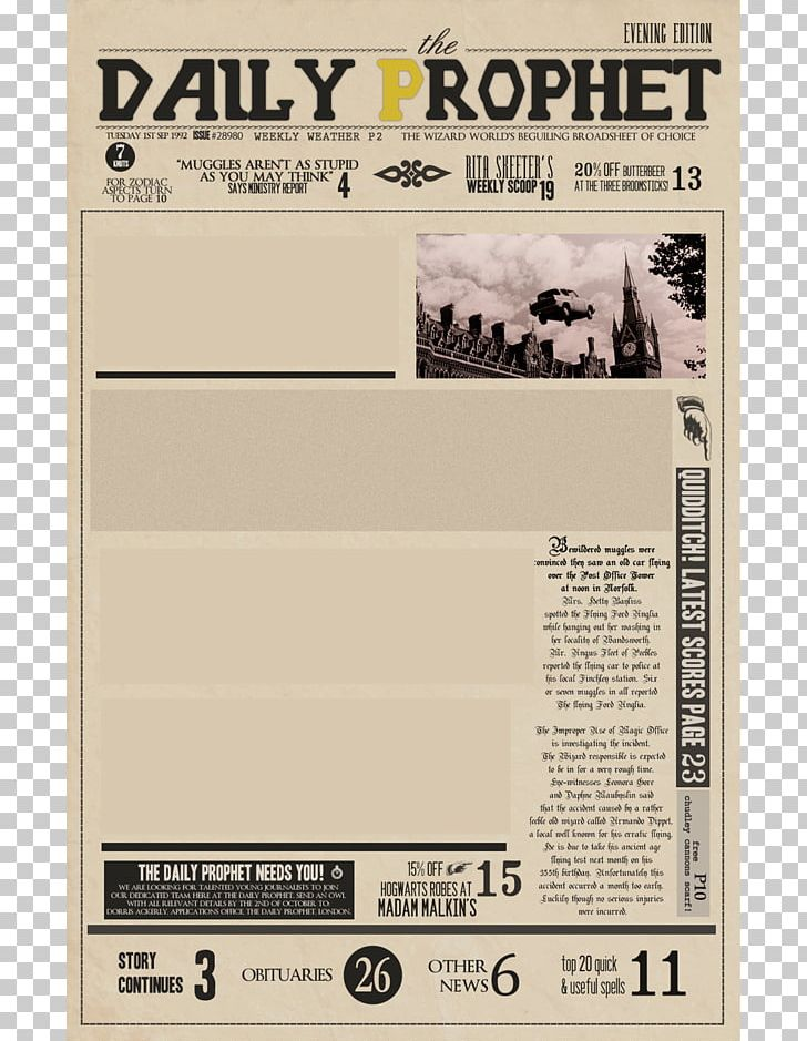 Fictional Universe Of Harry Potter Sirius Black Harry Potter And The Prisoner Of Azkaban Newspaper PNG, Clipart, Black Harry, Comic, Dobby The House Elf, Fictional Universe Of Harry Potter, Harry Potter Free PNG Download