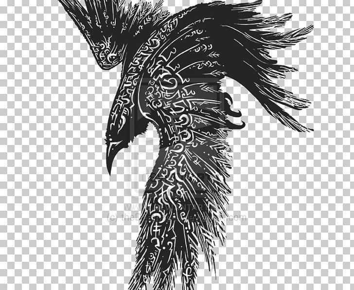 Odin Common Raven Tattoo Huginn And Muninn Celts Png
