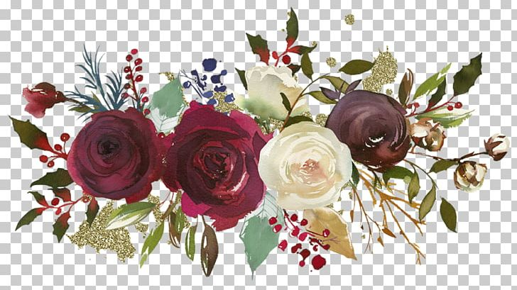 Garden Roses Floral Design Flower Watercolor Painting PNG, Clipart, Art, Artificial Flower, Burgundy, Composition Florale, Cut Flowers Free PNG Download