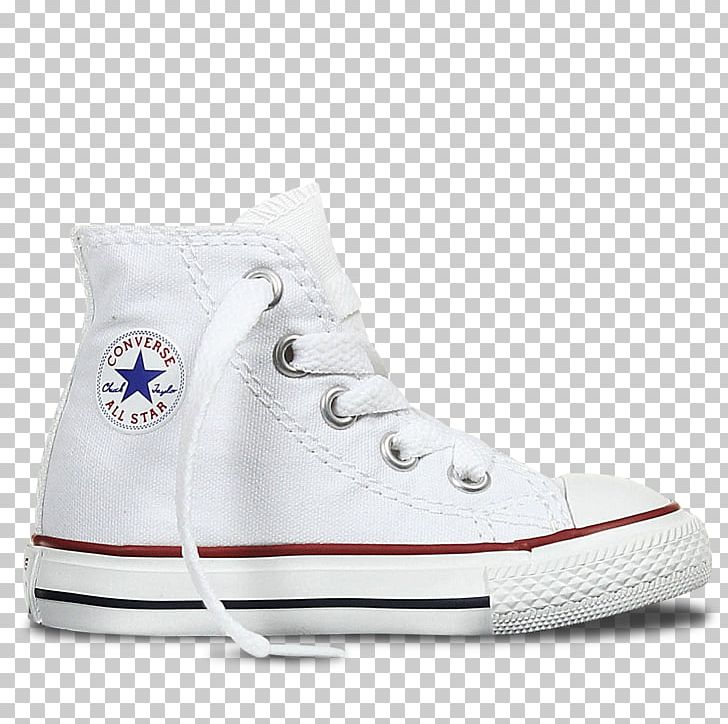 Chuck Taylor All Stars High top Converse Shoe White PNG