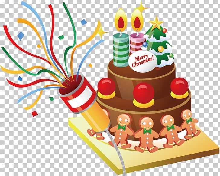 Cartoon Christmas Cake Material Png Clipart Baked Goods