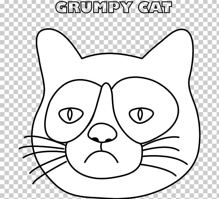 Whiskers Grumpy Cat Coloring Book Drawing PNG, Clipart, Angle ...