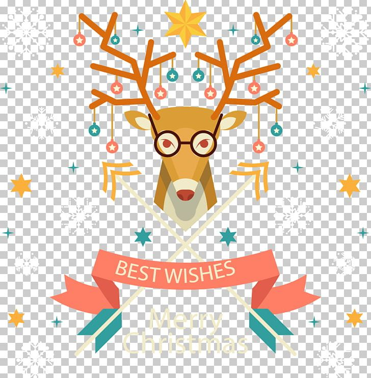 Christmas Deer Decorative Pattern PNG, Clipart, Antler, Art, Branch, Christmas Creative Image, Christmas Decoration Free PNG Download
