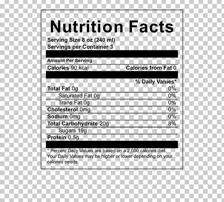Earl Grey Tea Nutrition Facts Label