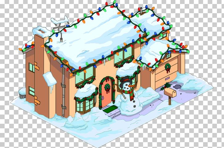 House With Christmas Lights Clipart.The Simpsons Tapped Out Gingerbread House Png Clipart
