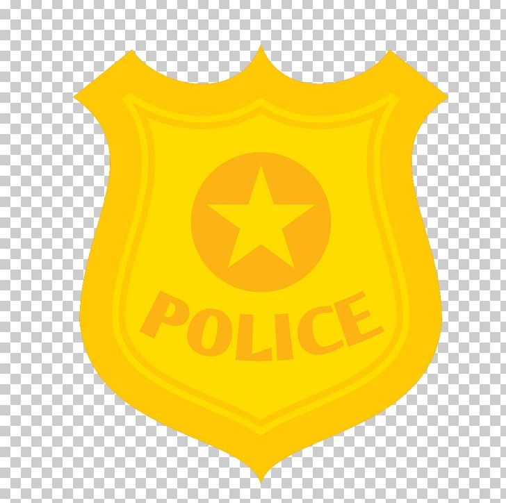 Police badge yellow. Officer cartoon png clipart