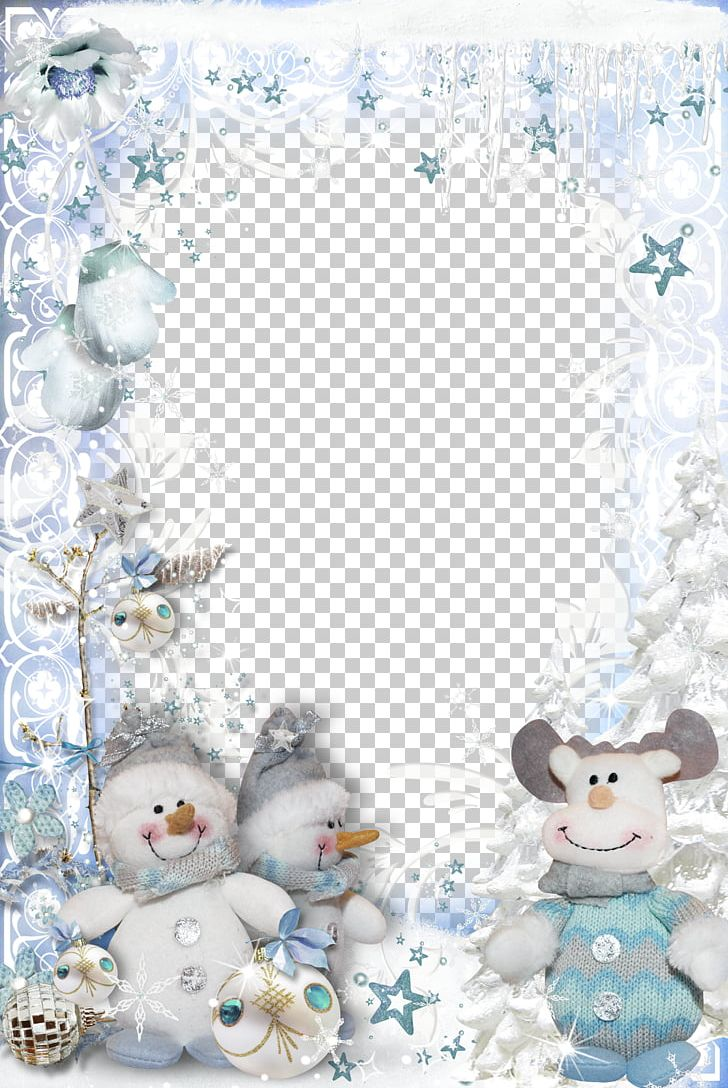 Santa Claus Christmas Frame PNG, Clipart, Blue, Border, Border Frame, Border Frame, Borders Free PNG Download