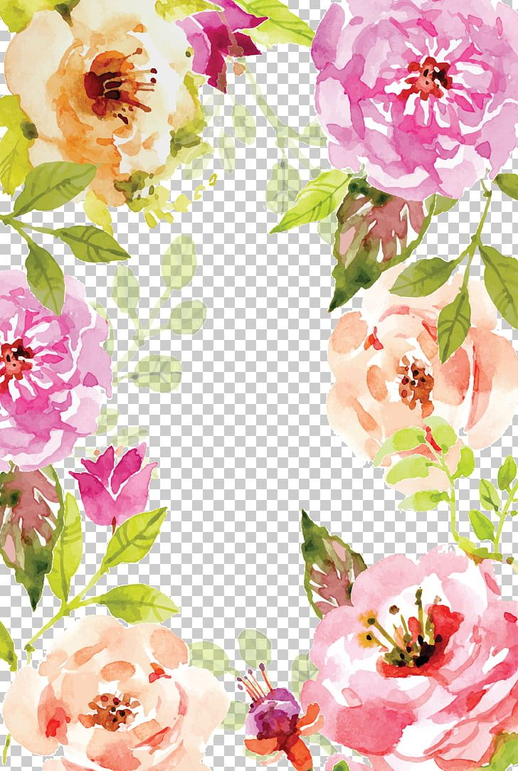 Watercolor Painting Book Poster PNG, Clipart, Border, Border Frame, Certificate Border, Dahlia, Encapsulated Postscript Free PNG Download