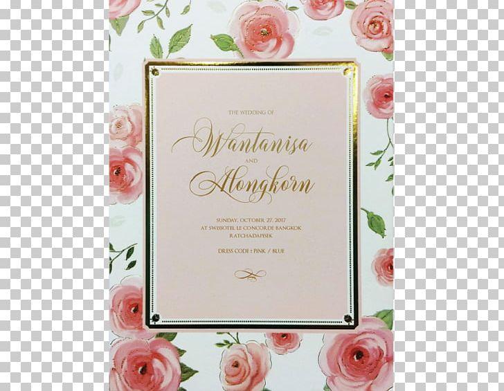 Floral Design Wedding Invitation Greeting Note Cards Frames PNG