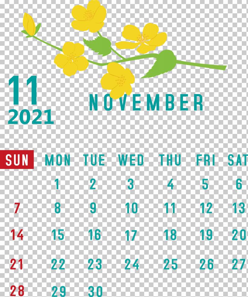 November 2021 Calendar November 2021 Printable Calendar PNG, Clipart, Geometry, Leaf, Line, Mathematics, Meter Free PNG Download