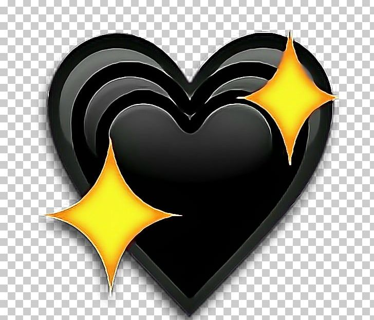 Emoji Heart Sticker Love Iphone Png Clipart Black Heart