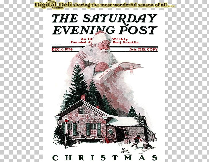 Santa Claus The Saturday Evening Post War News Magazine A Visit From St. Nicholas PNG, Clipart, Advertising, Art, Christmas, December, Golden Age Of Radio Free PNG Download
