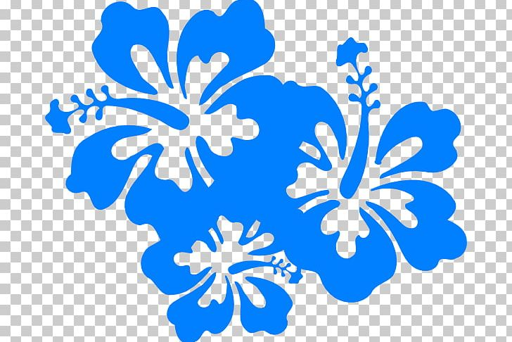 Hawaiian Flower Png Clipart Area Black And White Blue Blue