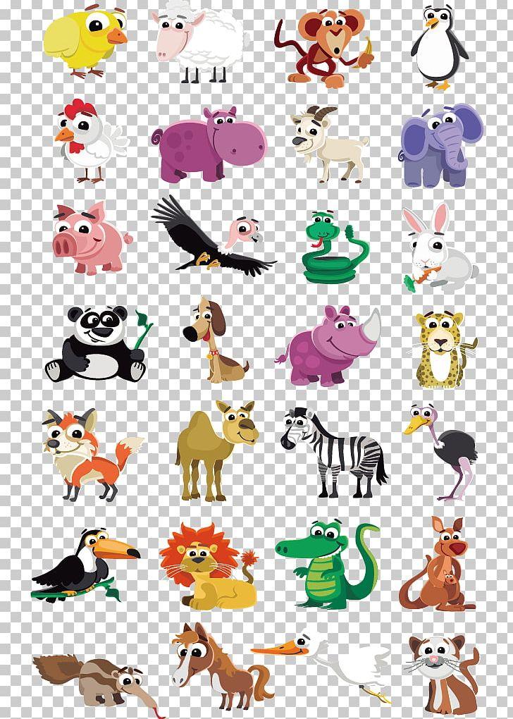 Cute Animal PNG, Clipart, Cartoon, Clip Art, Color, Cuteness, Design Free PNG Download