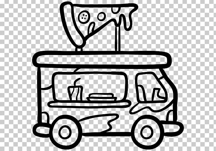 Fast Food Car Food Truck Pizza PNG, Clipart, Black And White, Car, Computer Icons, Cook, Delivery Free PNG Download