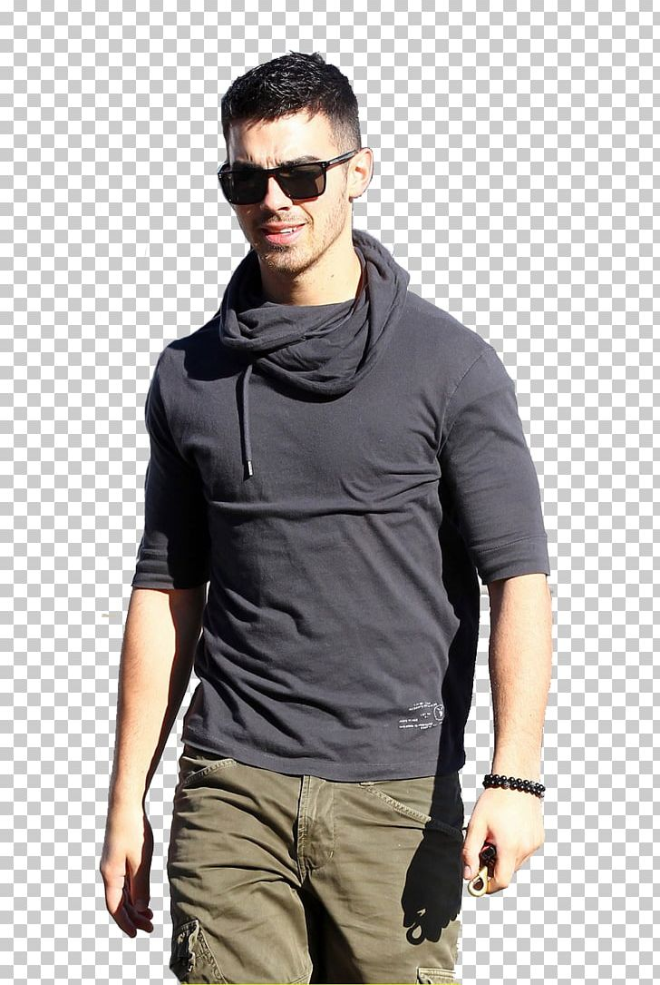 Joe Jonas Long-sleeved T-shirt Long-sleeved T-shirt Shoulder PNG, Clipart, Abdomen, Clothing, Cool, Eyewear, Famous People Free PNG Download