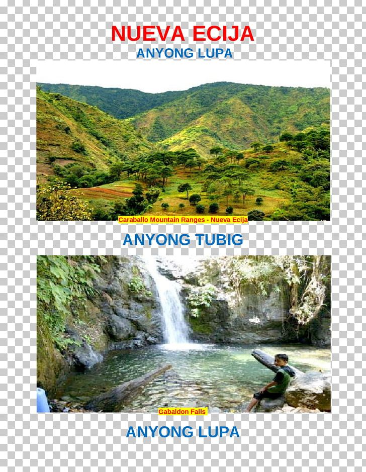 Body Of Water Nueva Ecija Landform Waterfall Caraballo Mountains PNG, Clipart, Body Of Water, Canyon, Chute, Document, Hill Station Free PNG Download