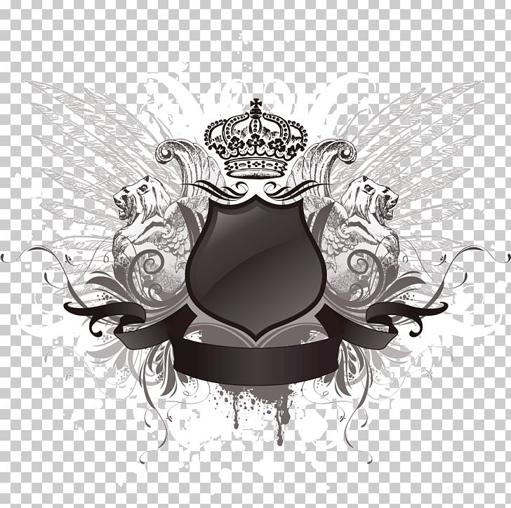 Wings Shield PNG, Clipart, Black And White, Cir, Coat Of Arms, Computer Wallpaper, Crown Free PNG Download