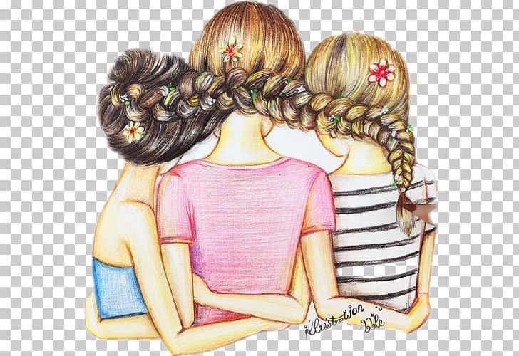 Best Friends Forever Drawing Friendship Illustration Png Clipart Art Art Museum Best Friends Forever Brown Hair