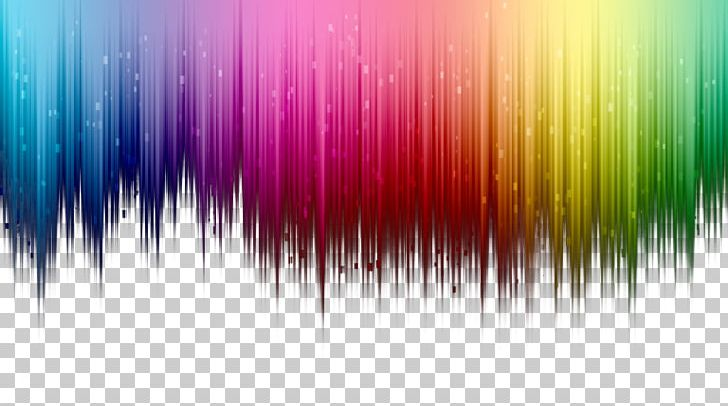 Colorful Top Color Gradient Border Background PNG, Clipart