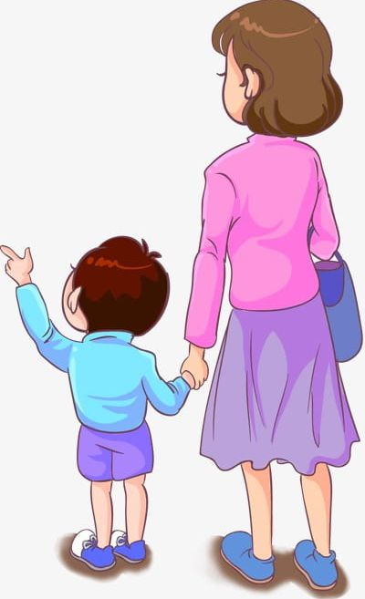 Mother And Son PNG, Clipart, Cartoon, Cartoon Characters