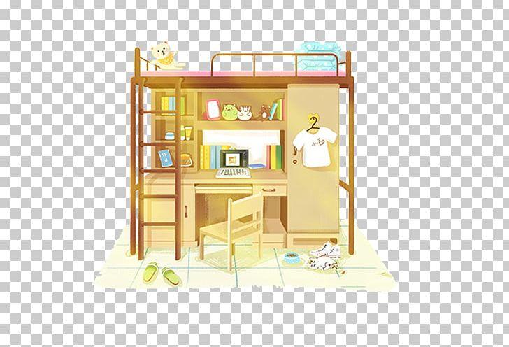 Cartoon Dormitory Illustration PNG, Clipart, 2018 Desk Calendar, Adobe Illustrator, Architecture, Bedding, Beds Free PNG Download