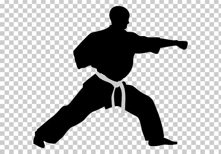 Karate Martial Arts Computer Icons Kick PNG, Clipart, Angle, Arm, Black And White, Clip Art, Combat Sport Free PNG Download