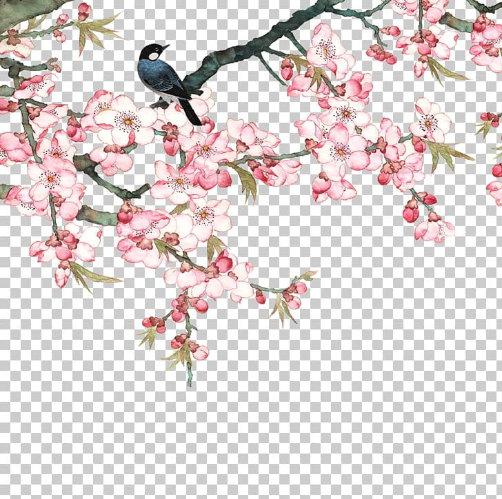Peach Goods Film PNG, Clipart, Bird, Birds In The Branches, Branch, Chinese Style, Design Free PNG Download