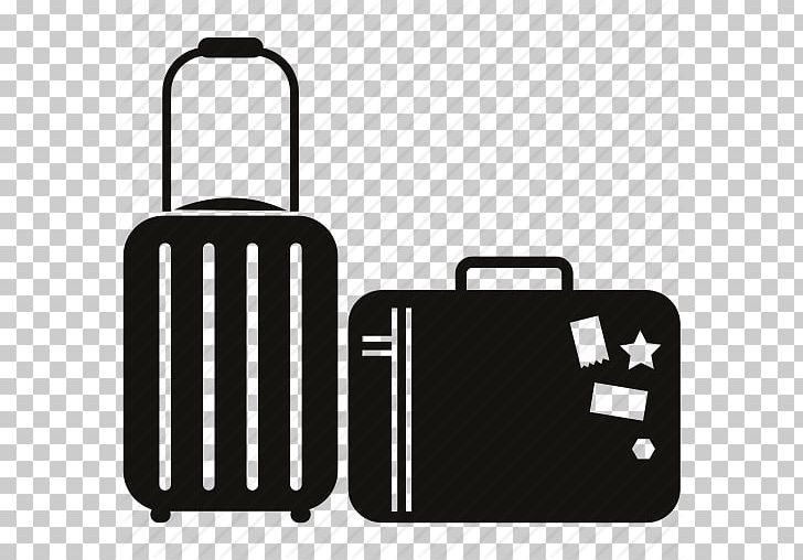 Baggage Travel Suitcase Computer Icons PNG, Clipart, Backpacking, Bag, Baggage, Baggage Cart, Black And White Free PNG Download