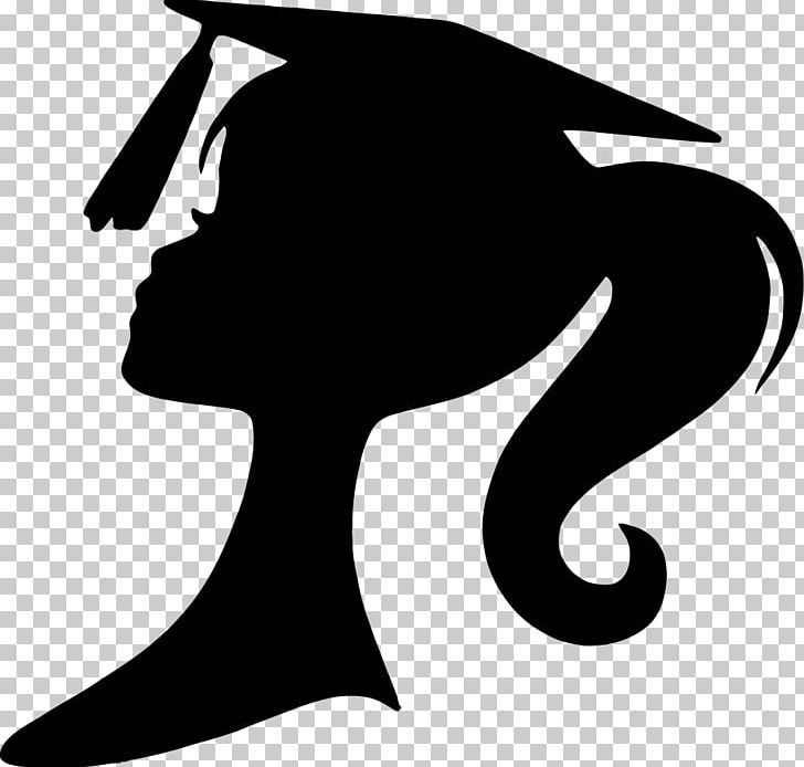 Silhouette Graduation Ceremony Square Academic Cap Party PNG