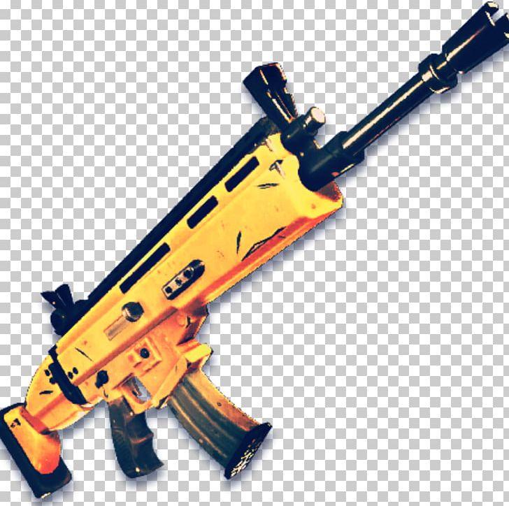 Fortnite golden. Battle royale fn scar