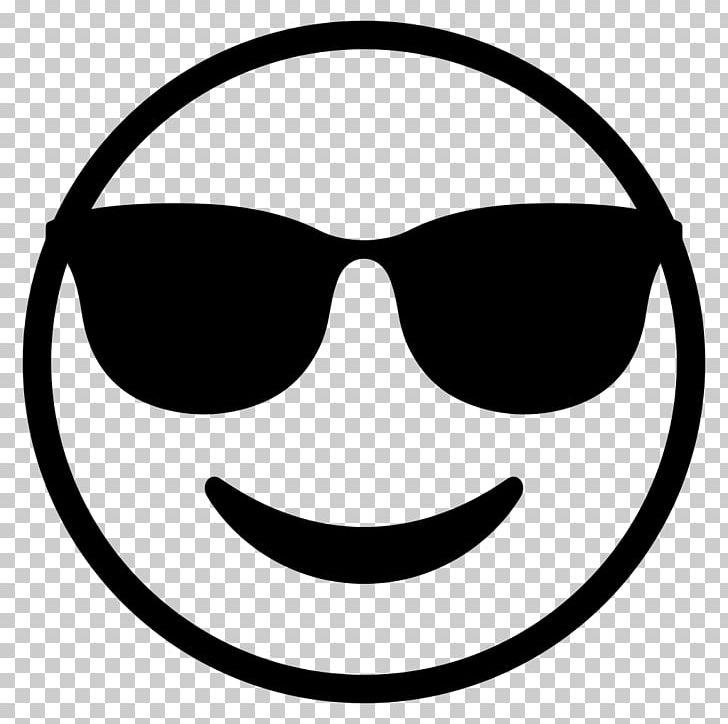 Emoji Sunglasses Smiley Emoticon PNG, Clipart, Black, Black And White, Computer Icons, Emoji, Emojis Free PNG Download