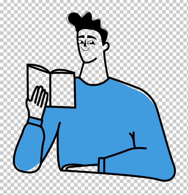 Reading Book PNG, Clipart, Digital Marketing, Joint, Line Art, Male, Marketing Free PNG Download
